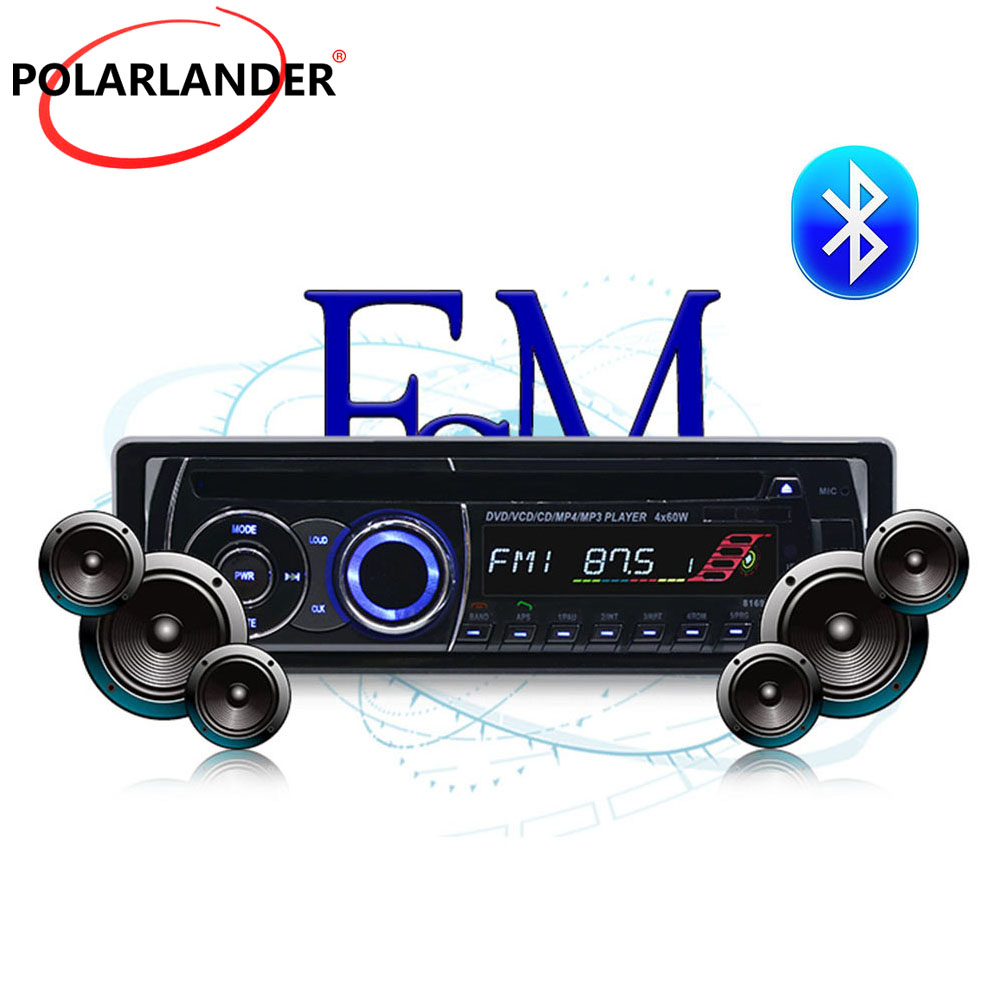Removable panel BT Bluetooth Car Radio Stereo With Remote Control FM AUX IN USB SD card 1 DIN CD DVD MP3 player Audio Music цена