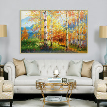 Canvas acrylic painting abstract landscape Palette Knife Wall art Picture for living room home decor cuadro decoration9