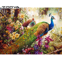 2015 5D DIY Diamond Painting Beautiful Peacock Animals Cross Stitch Diamond Painting Square Drill Full Rhinestone