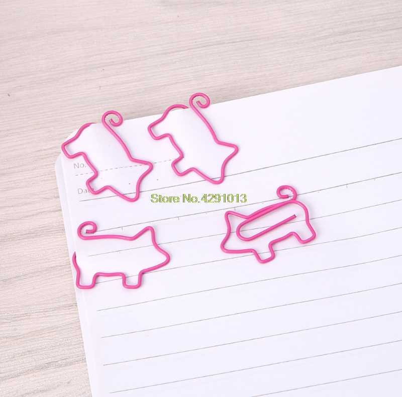 Clips de papel de Metal de cerdo lindo Pin libro marcador Clip de notas oficina escuela papelería Drop Shipping soporte