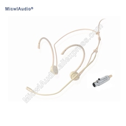 Pro High Quality Headset Conference Headworn Microphone 3Pin for AKG Samson Wireless System TA3F Plug Connector Beige