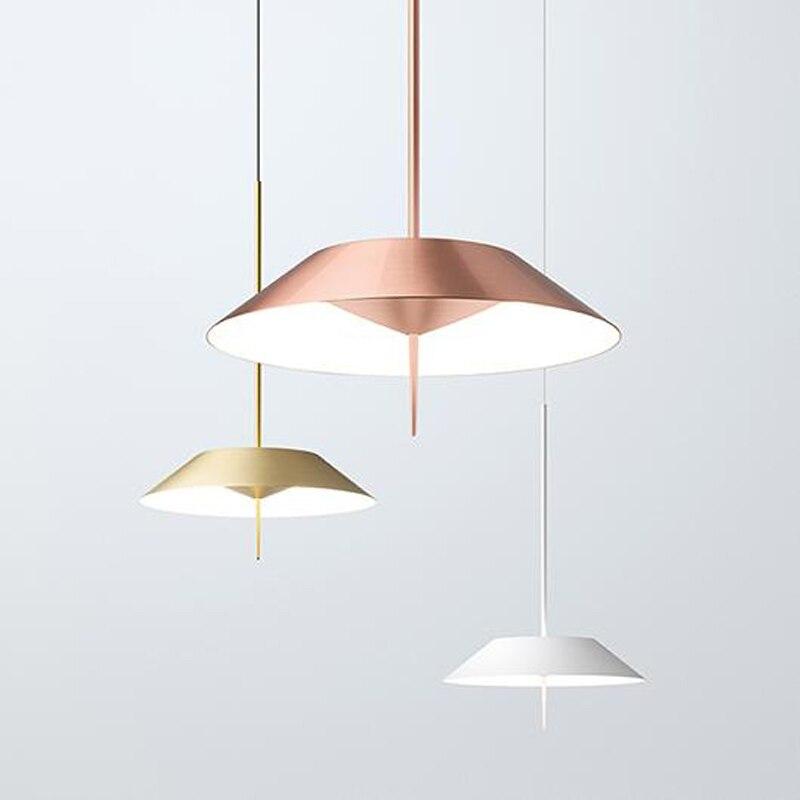купить Scandinavian designer creative line pendant lamp living room bedroom modern LED geometric modeling art pendant suspension lights онлайн