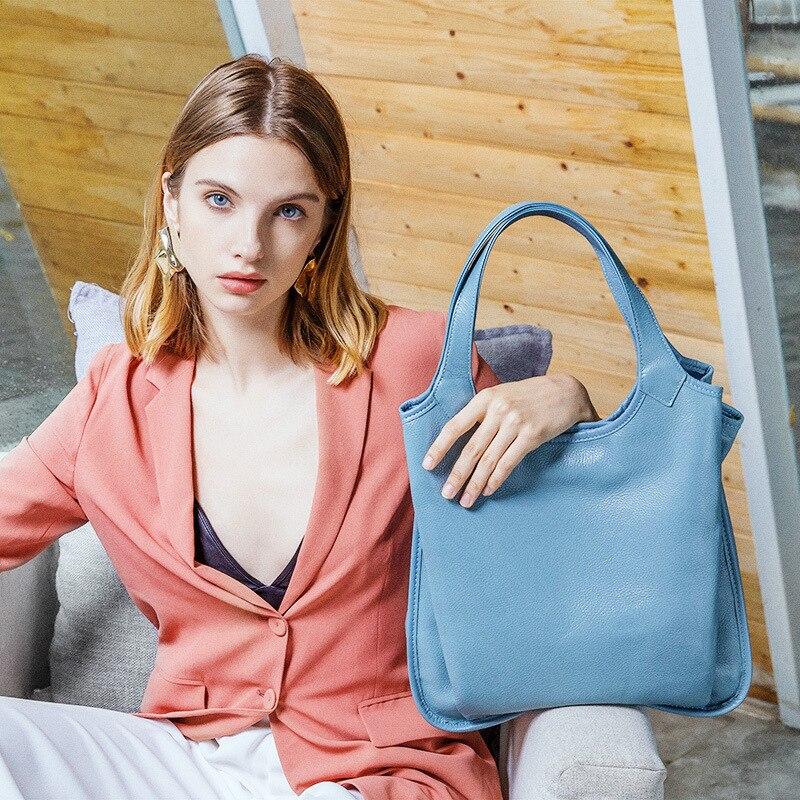 Nouveau Sac D'épaule de Dames De Luxe De Mode Femme Sacs À Main En Cuir Véritable Grande Capacité shopper sacs pour femmes 2018 bolsos mujer