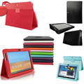 Folio PU Leather Stand Case Cover Ultra Thin Smart for Samsung Galaxy Tab 2 10.1 P5100 w/Screen Protector Film Book Cover