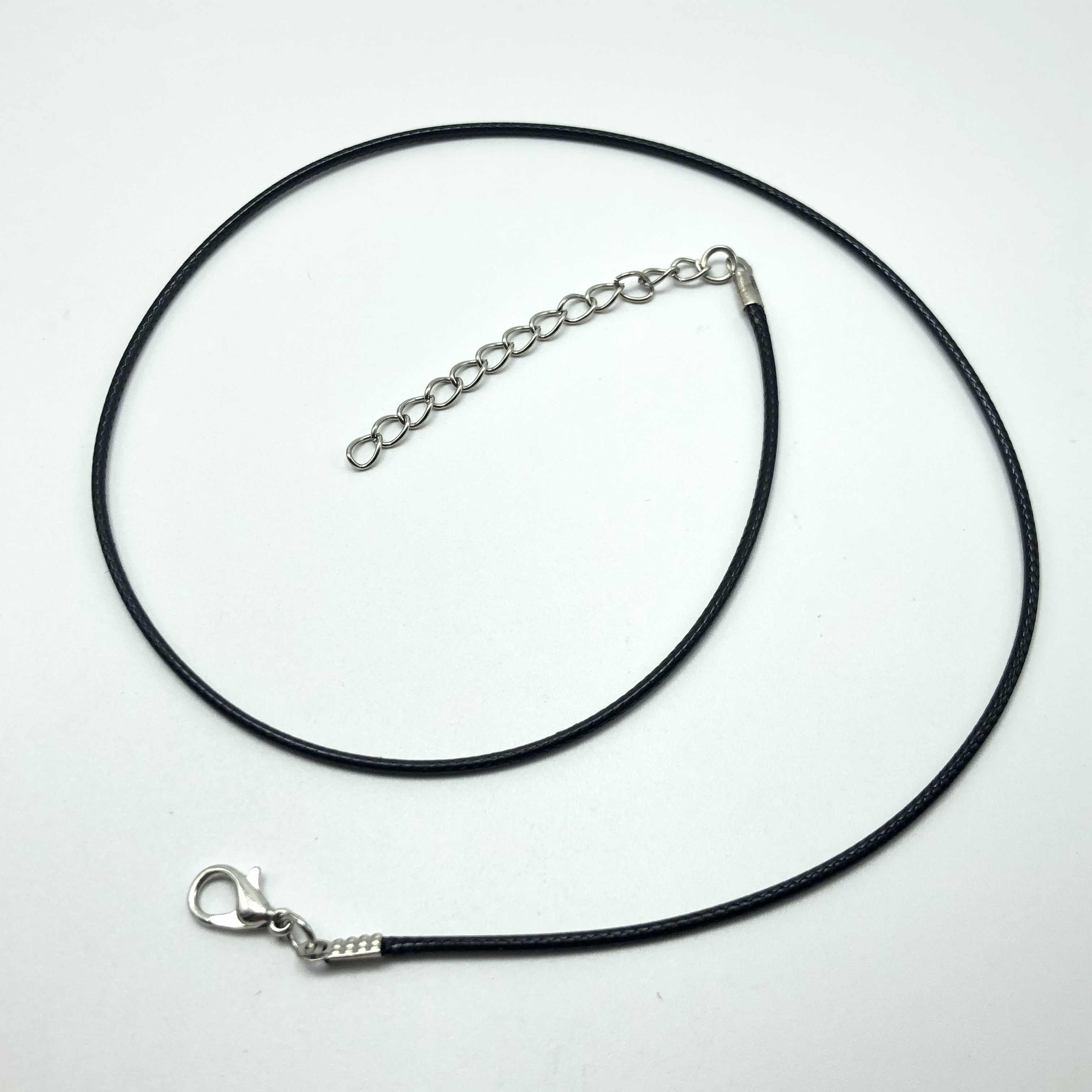 Wholesale 2mm Leather Cord Lobster Clasp Pendant Necklace Chains 10pcs