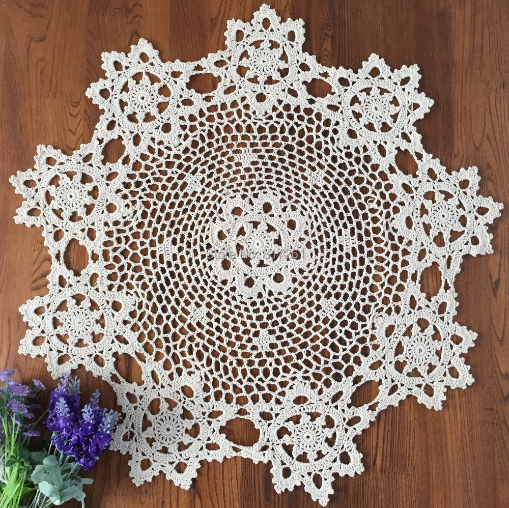 Good Free Shipping 2015 New Arrival Cotton Crochet Lace Tablecloth For Home  Decor 60cm Round Table Cover