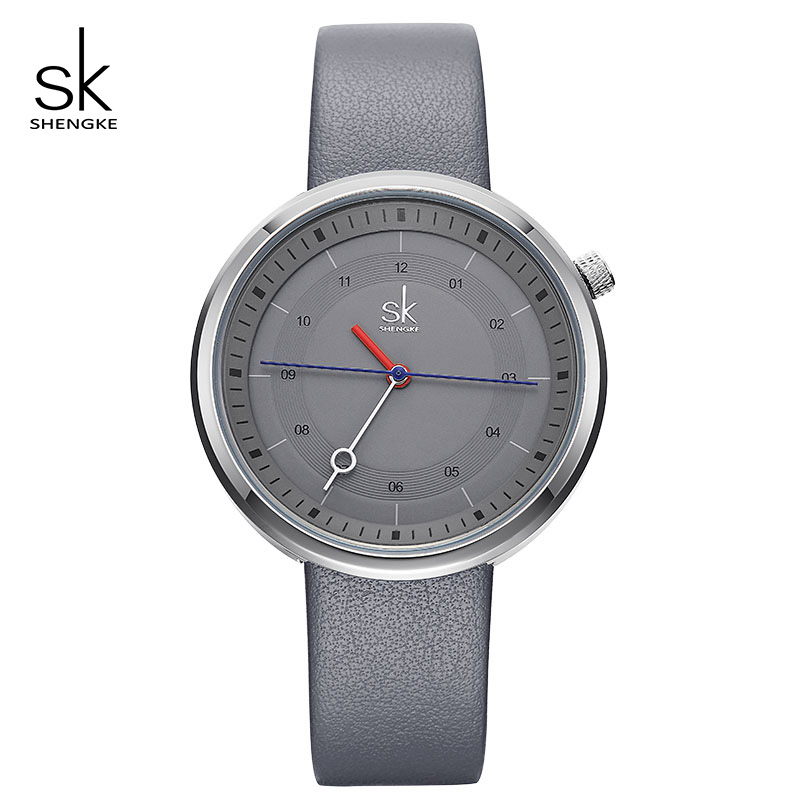 Shengke Casual Leather Watches Women Creative Quartz Watch Relogio Feminino 2018 New Fashion Female Watches Montre Femme #K8044 shengke top brand quartz watch women casual fashion leather watches relogio feminino 2018 new sk female wrist watch k8028