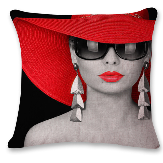 Red Lips Cushion Covers 4