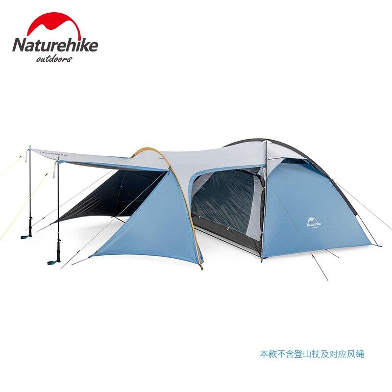 Naturehike 2019 Ritter Camping Zelt 3 Person Ein Zimmer Einer Halle Große Raum Tourist Zelt Wandern Camping Reise Winddicht UPF50 +