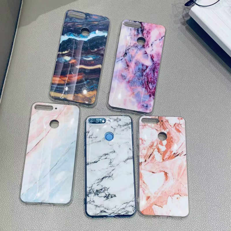 "Huawei Honor 7C Case 5.7"" Luxury Marble Silicon Soft TPU Cover on for Coque Huawei Honor 7C 7 C AUM-L41 RU EU Version Phone Case"