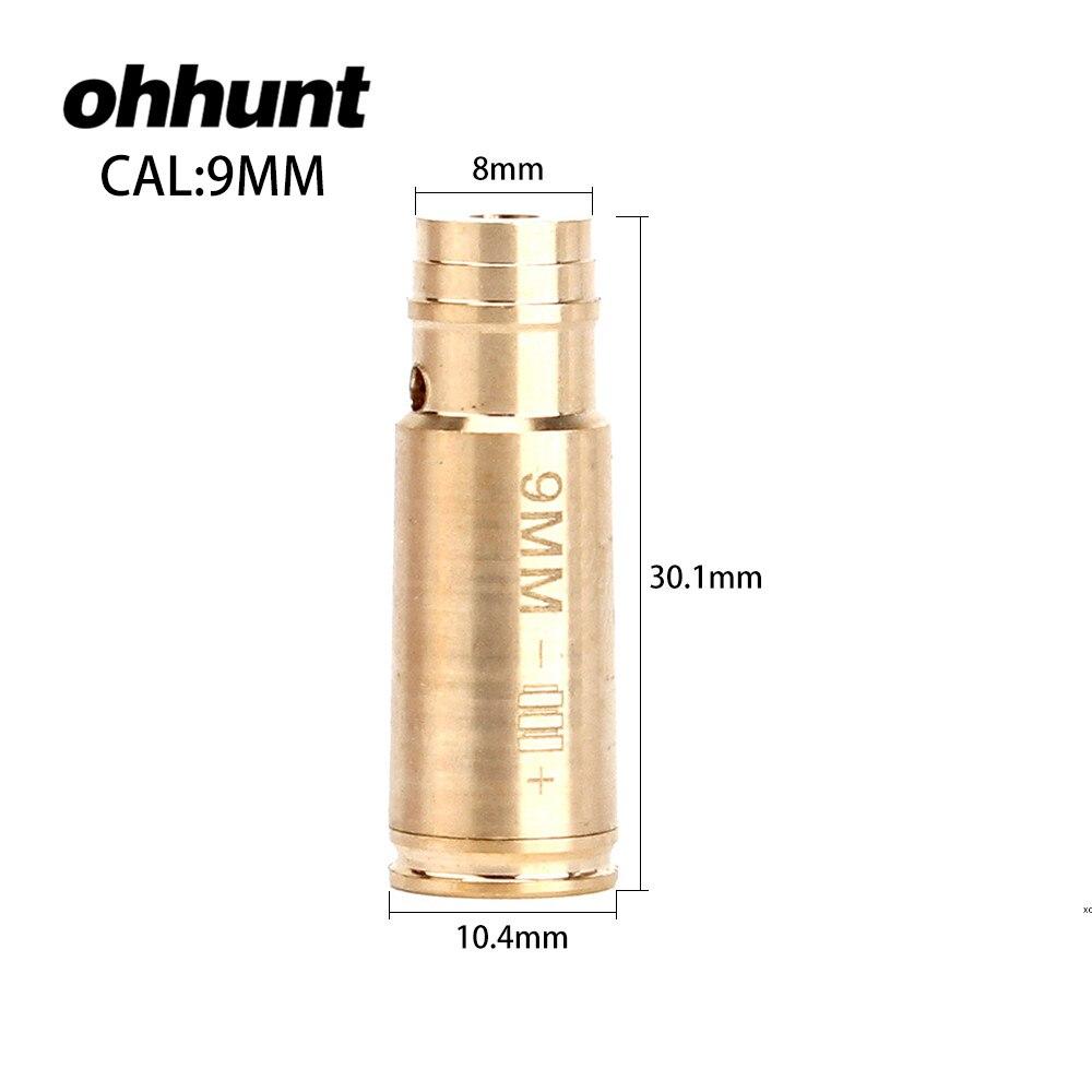 Ohhunt Red Dot Laser In Ottone Boresight CAL. 9mm Cartuccia Bore Sighter Per pistola Ambito di Caccia Arma. 45. 30. 222REM 7.62X39