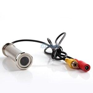 """Image 2 - 1/4 """"800tvl 2.8mm lente 79mm comprimento wired cctv doorview porta olho olho câmera cor de segurança para mais porta grossa"""