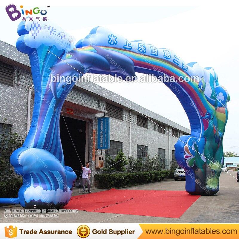 Dia 12 mètres gonflable océan thème entrée arche bienvenue porte pour la publicité