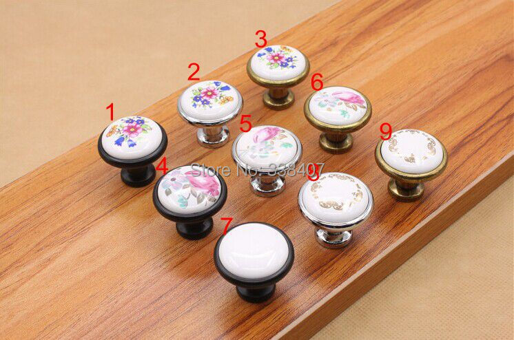 Funiture Decorative Door Knobs Small Drawer Pulls Ceramic-in Cabinet ...
