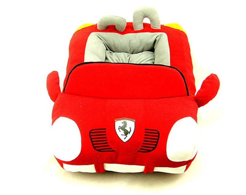 Plush Car Dog Beds With Detachable Cushion Pp Cotton Padded Dog House Waterproof Bottom Car Dog House Dog Bed Car Dog Beddog House Aliexpress