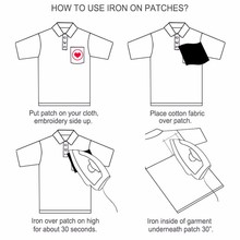 Embroidery Black White Patches For Apparel