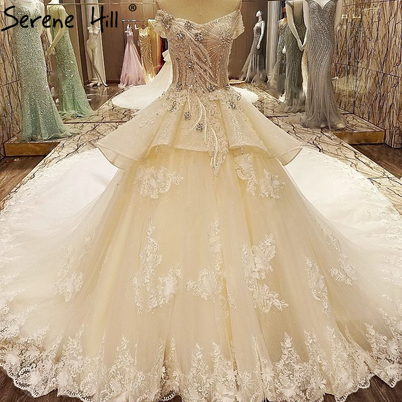Y Sleeveless Beading Diamond Sparkly Wedding Dresses Lace Princess Luxury Bridal Dress 2018 New Vestido De Noiva In From Weddings