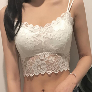2020 Fashion Women Bralette Bra Female Tops Hot Sale Female Lace Strap Wrapped Chest Shirt Top New Underwear Bras