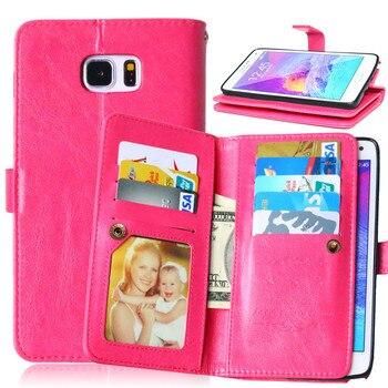 2e683fae2a0 De cuero flip de lujo cartera caja del teléfono para Samsung Galaxy Note 5  N9200 estilo de negocios teléfono bolsa con tarjeta titular de la