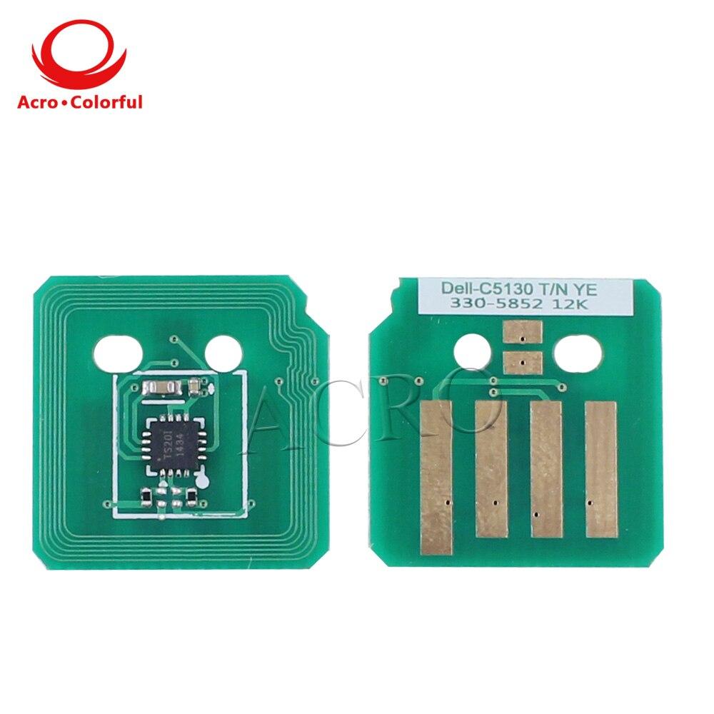 5 комплектов 50K барабанный чип перезаправленный для DELL C5130cdn Тонер лазерного принтера картридж