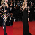Mermaid long Sleeves Lace 2016 Celebrity Dresses Floor Length Lace Evening Dress Cara Delevingne