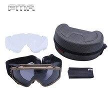 Versión Actualizada de Seguridad Táctica FMA Airsoft Goggle Gafas de Senderismo Pesca Ciclismo Gafas Gafas de Esquí Escalada Al Aire Libre