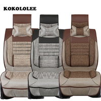 KOKOLOLEE Flax Auto Front Rear Car Seat Covers Full Seat Covers For Choice Universal Fit Car