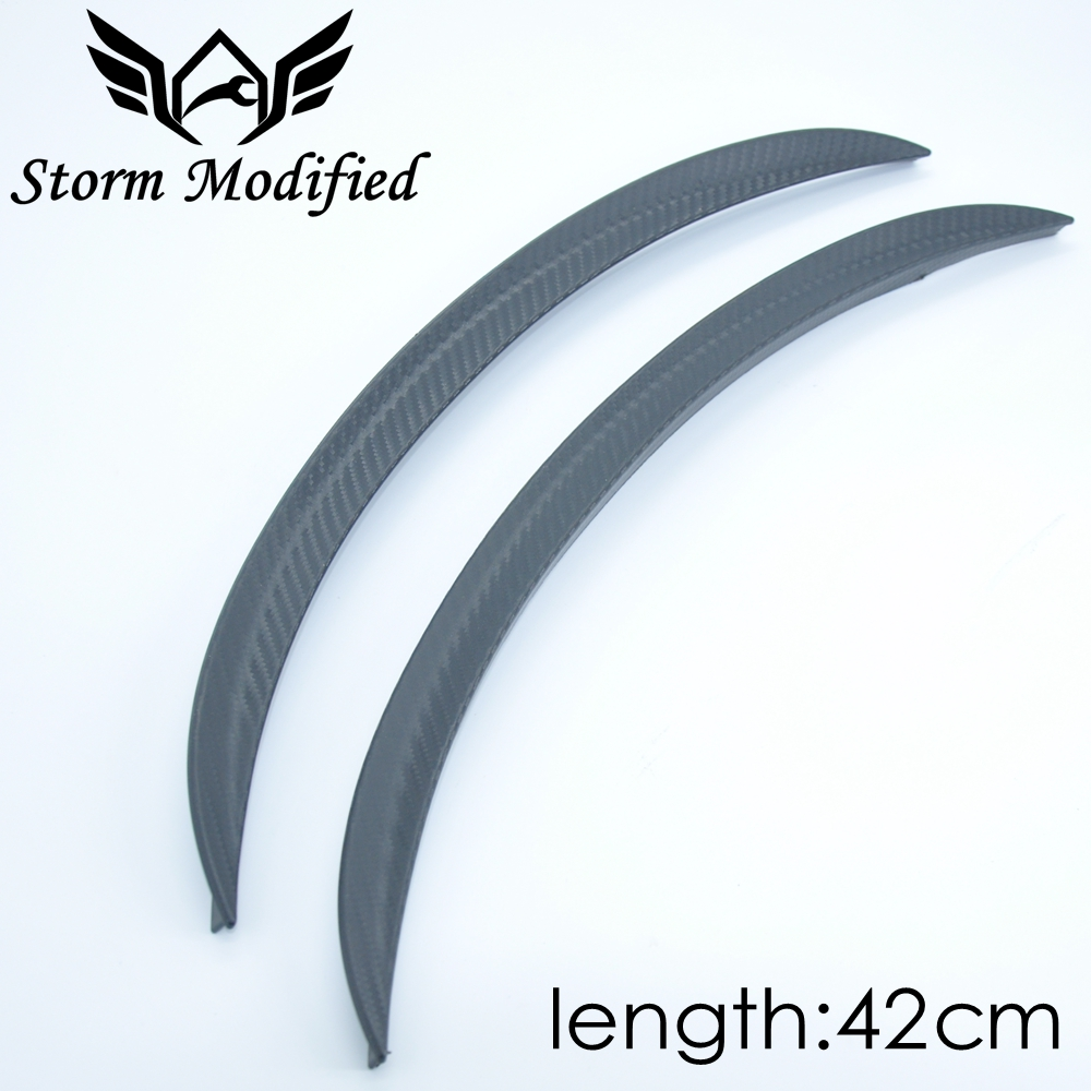 SuTong 1 Pair Carbon Fiber Style Fender Flare Wheel Lip Body Kit Universal 42CM For Car Mudguard Mud Guard Auto Accessories