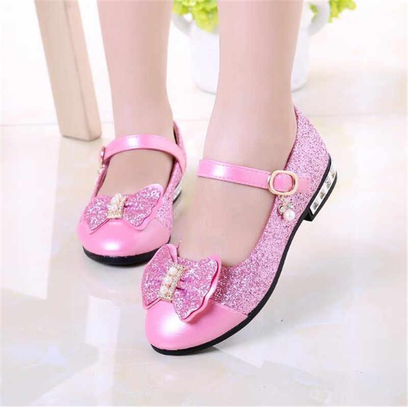 e81db170 ... Nuevo 2019 niños princesa zapatos niñas lentejuelas niñas boda fiesta  niños vestido zapatos para niñas rosa ...