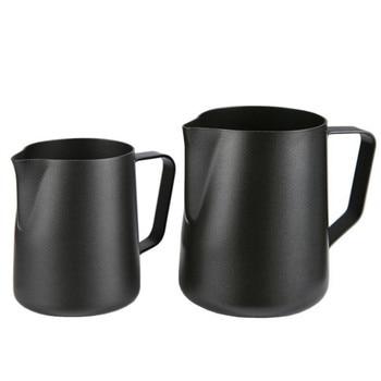 Black Milk Jug For Steaming And Latte Art 1