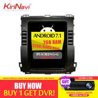 KiriNavi 2 GB RAM écran Vertical Tesla Style Android 6.0 10.4 pouces autoradio pour Toyota Prado voiture DVD Gps Navigation
