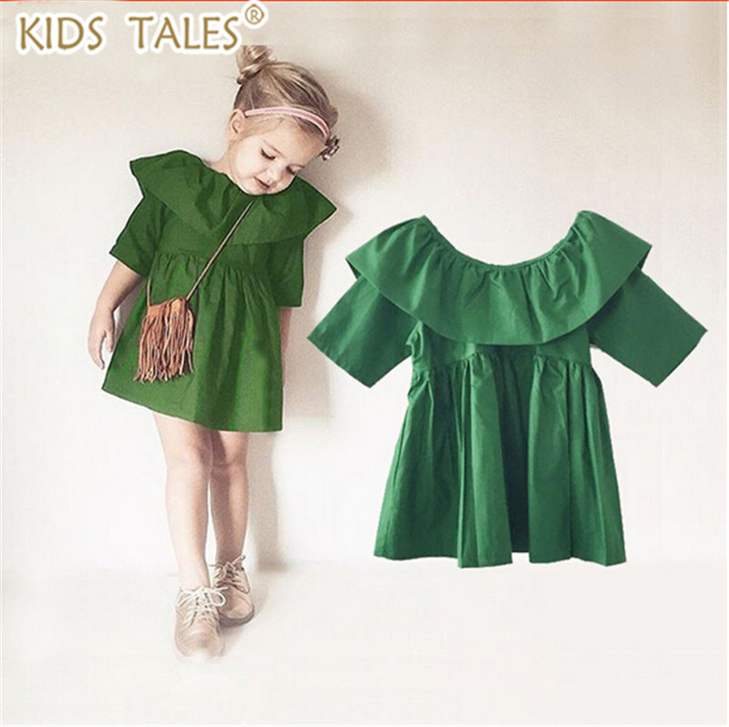 New 2017 spring and summer children's clothing fashion girl vestido tutu girl dress wood ear europe green well party dress 2016 spring and summer free shipping red new fashion design shoes african women print rt 3