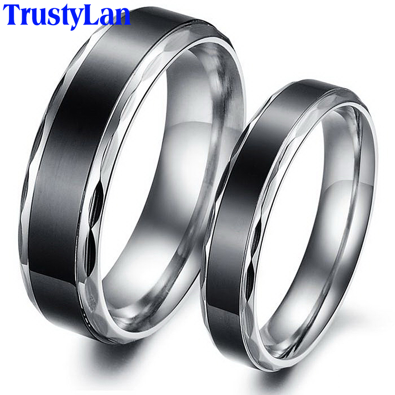 Popular His and Her Black Wedding Ring SetBuy Cheap His and Her