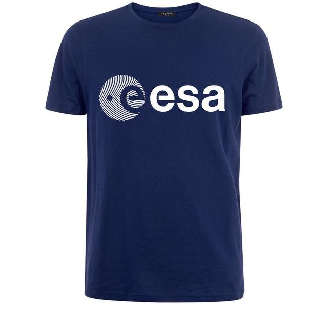 Esa أوروبا وكالة الفضاء الأوروبية Symbo Nerd المهوس رجالي تي شيرت أبيض شحن مجاني رجالي موضة جديدة تي شيرت