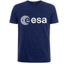 Esa europa agência espacial europeia symbo nerd dos homens camiseta branca frete grátis nova moda t camisas