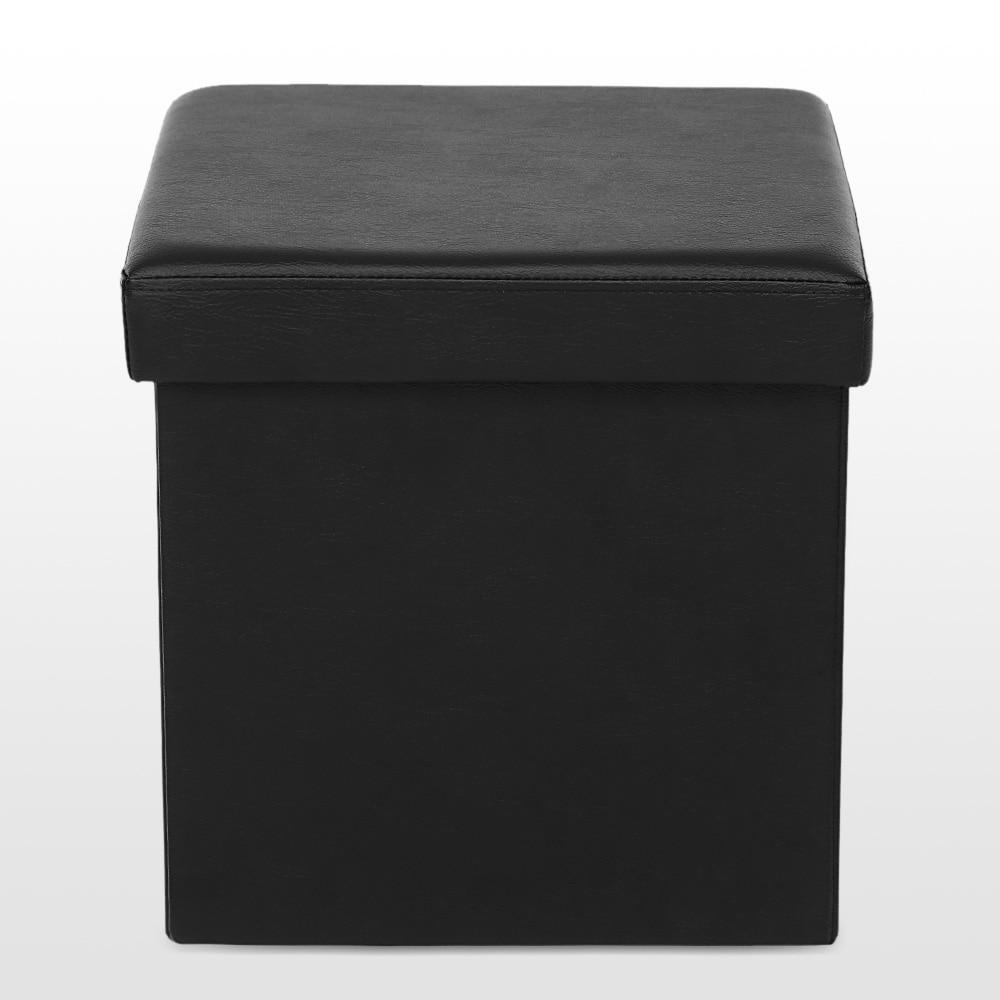 Ikayaa FR otomana de almacenamiento plegable taburete asiento ...