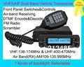 Función múltiple VHF / UHF de doble banda transceptor vehículo BJ-9900 con Air Band 109 - 135.995 MHz RX y Panel frontal desmontable, FM