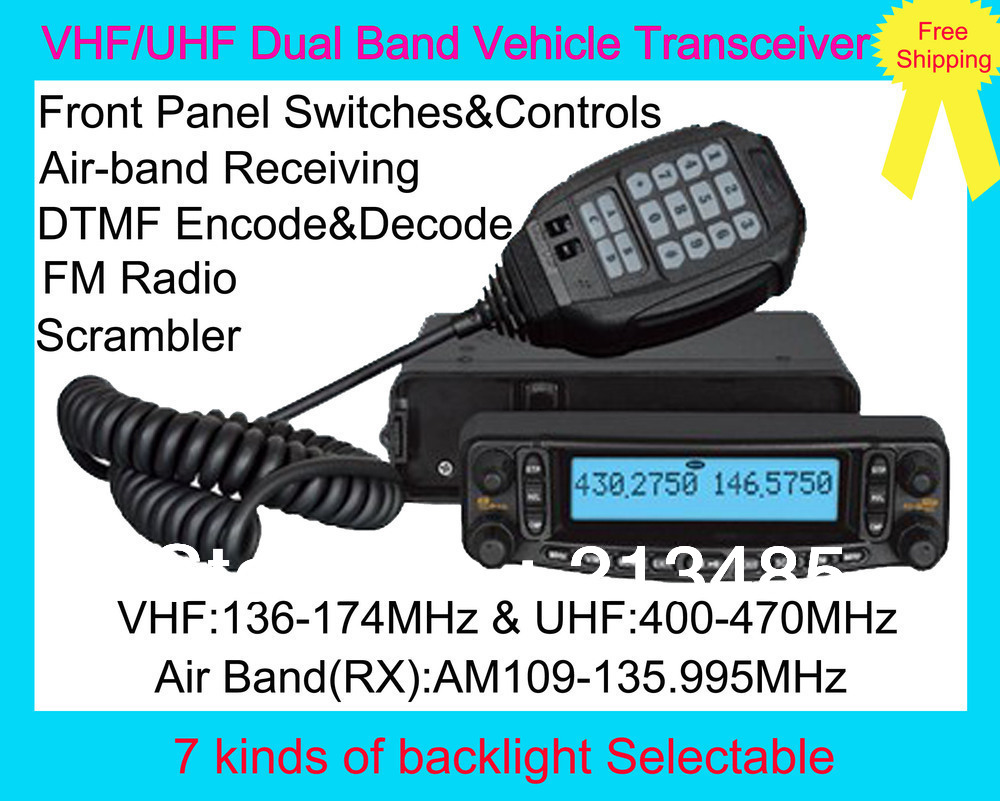 Multiple Function VHF/UHF Dual Band Vehicle Transceiver BJ-9900 With Air Band 109-135.995MHz RX And Detachable Front Panel,FM