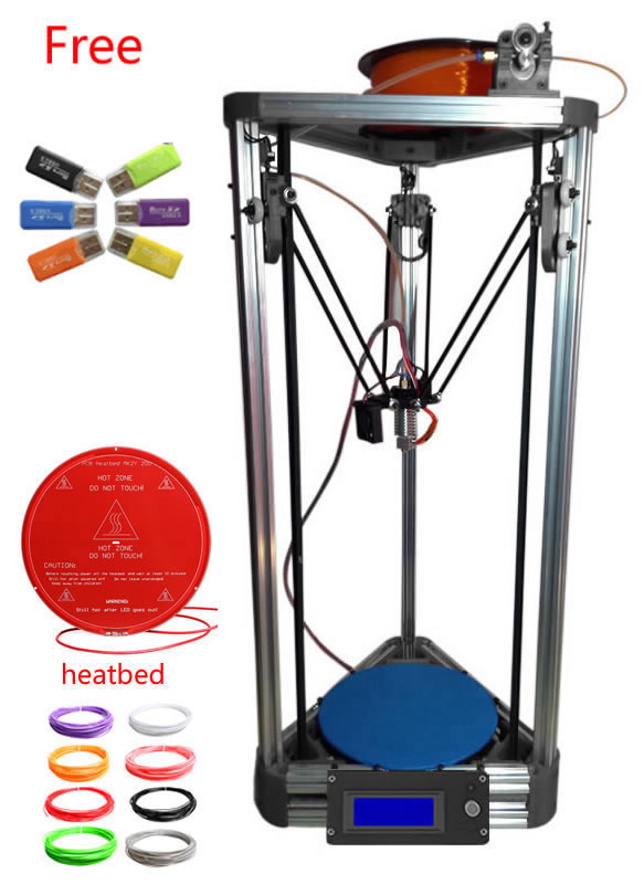 updated metal extruder kit 3d printer min kossel open source kOSSEL ROSTOCK 3d printer kit original anycubic 3d pinter kit kossel pulley heat power big size 3d printing metal printer fast shipping from moscow