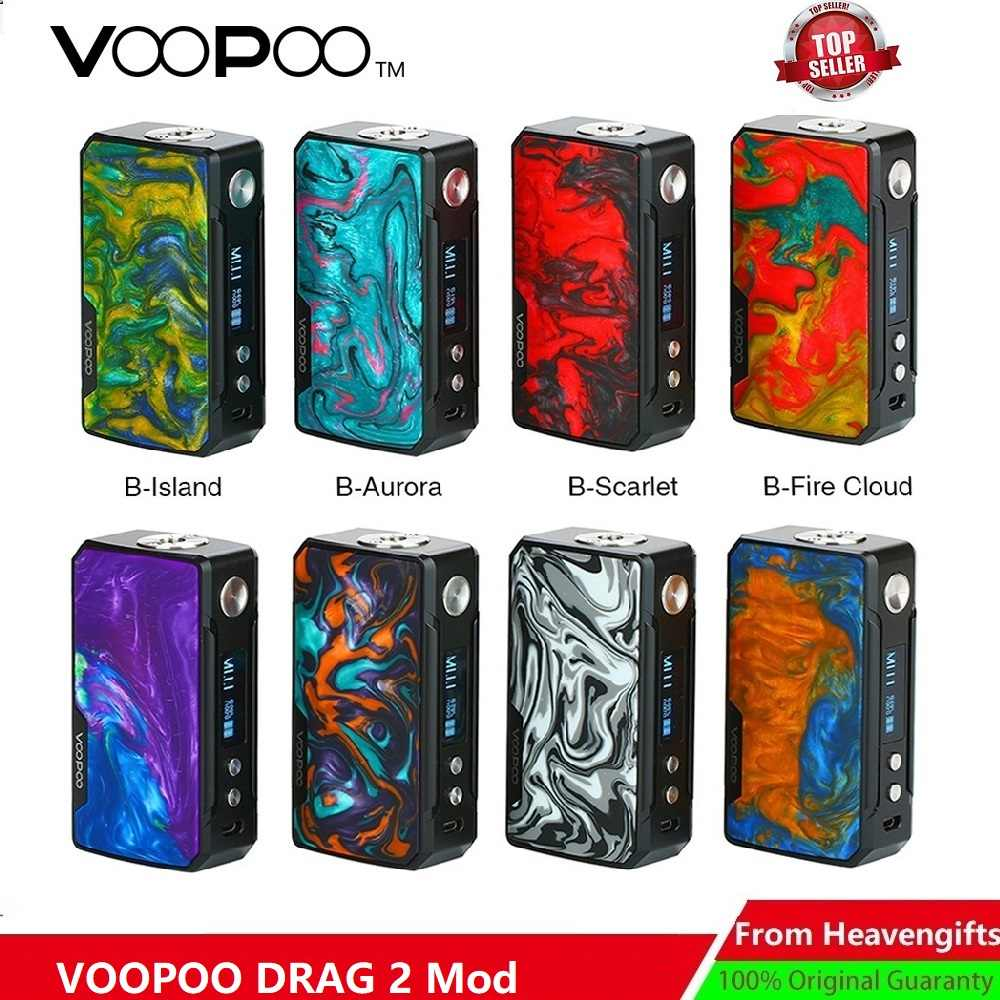 177W VOOPOO DRAG 2 Box Mod Power By 18650 Battery Electronic Cigarette Vape Vaporizer Voopoo Mod Vs Luxe Mod / Shogun/ Drag Nano