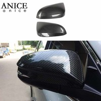 Carbon fiber color Rear View Side Mirror Cover fit for Toyota RAV4 2013 2018