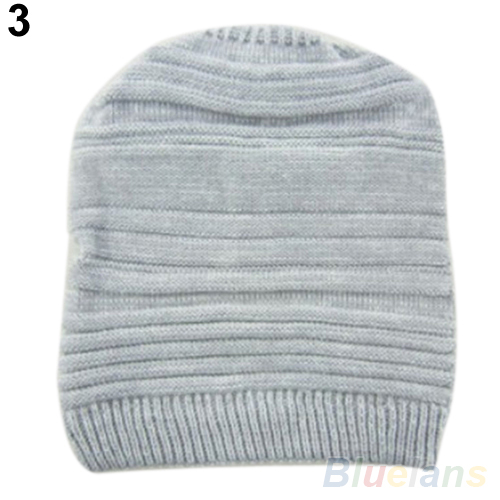 Hot Unisex Womens Mens Knit Baggy Beanie Hat Winter Warm Oversized i Cap hot winter beanie knit crochet ski hat plicate baggy oversized slouch unisex cap