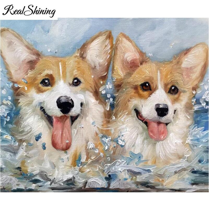 Dog DIY 5D Diamond Embroidery Painting Rhinestone Cross Stitch Home Decor New