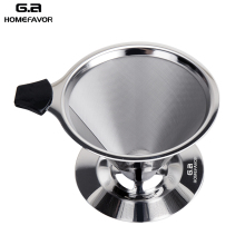 G.a HOMEFAVOR Coffee Filter 304 Stainless Steel Metal Mesh Funnel Eco-friendly Reusable Basket Replacement Tools Stock