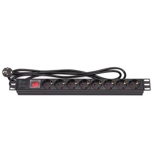 Image 2 - Pdu 1U 8 Eu Plug Outlets 16A 220V 250V Power Charge Socket Met 2 M Verlengkabel muur Socket Mains Lead Plug Strip Adapter