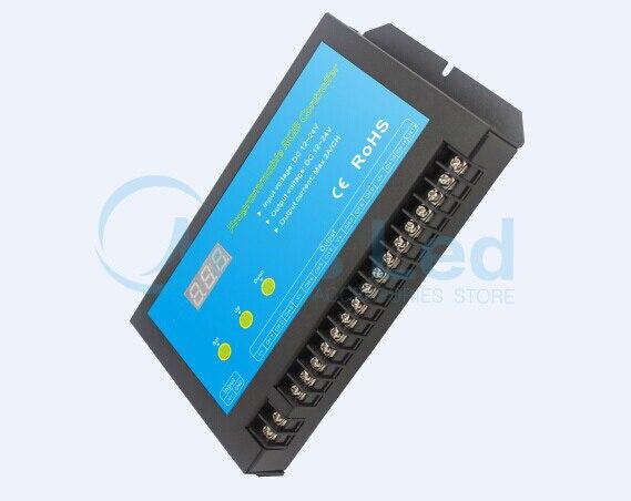 Multichannel Programmable RGB controller TC700 controller DC12-24V dmx512 digital display 24ch dmx address controller dc5v 24v each ch max 3a 8 groups rgb controller