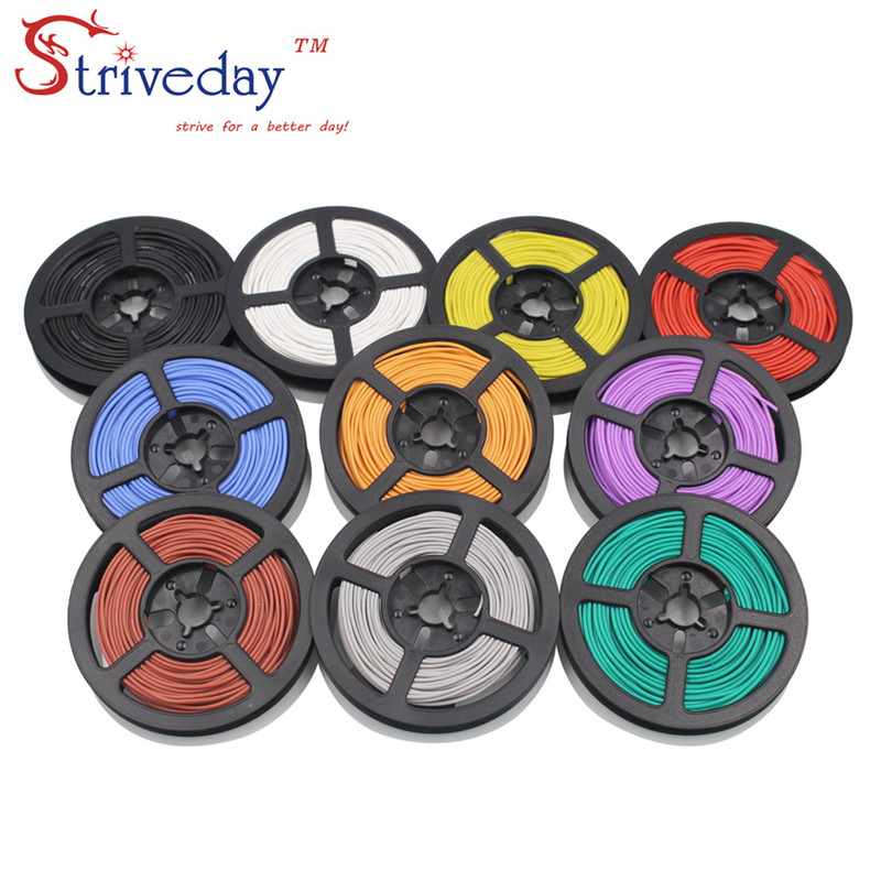 50 meters/roll (164ft) 28AWG high temperature resistance Flexible silicone wire tinned copper wire RC power Electronic cable 100 meters 328ft 20awg high temperature resistance flexible silicone wire tinned copper wire rc power cord electronic cable