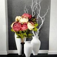 LIN MAN 1 Bouquet Set Silk Wedding Bouquet Photograph Bridal Bouquet Artificial Hydrangea Peony Wedding Flowers