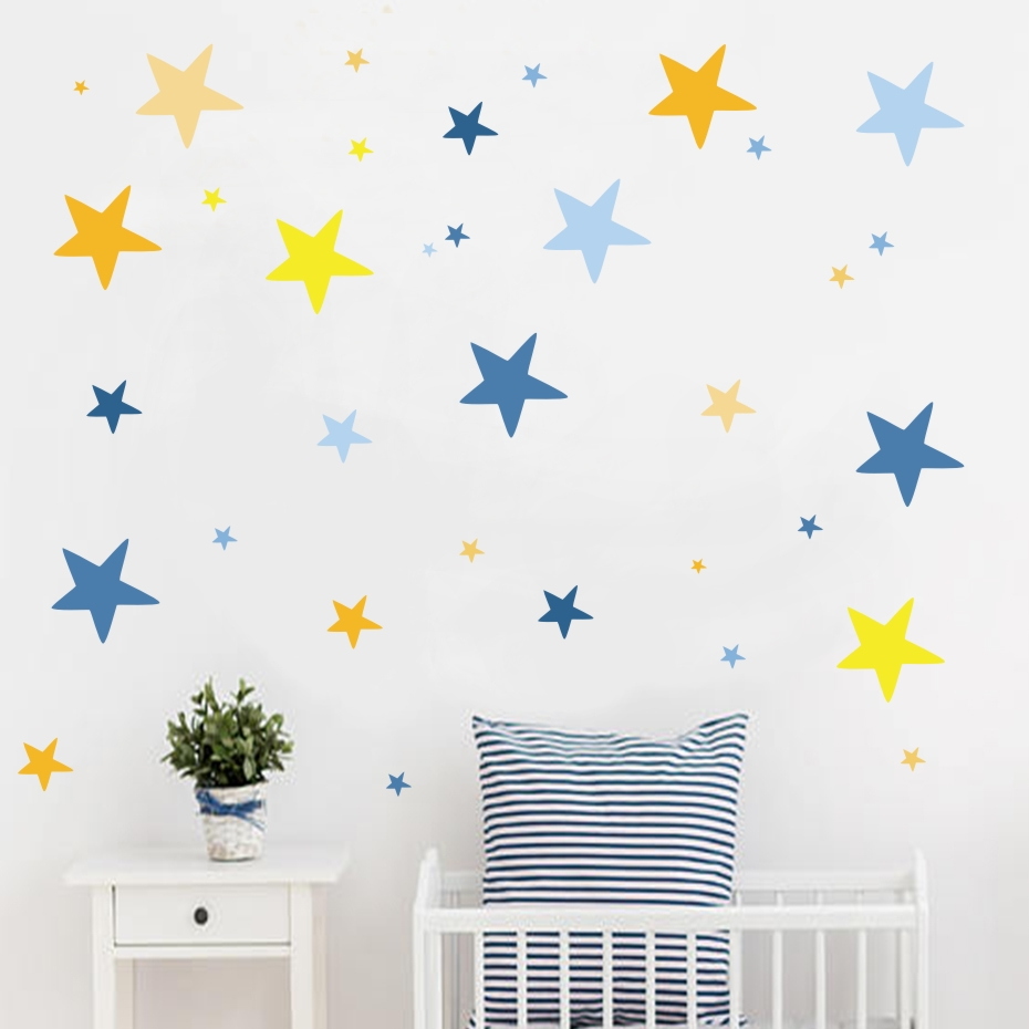 Stars Room Decor Cheap For All In House Products Stickers Wall Baby In Full Home