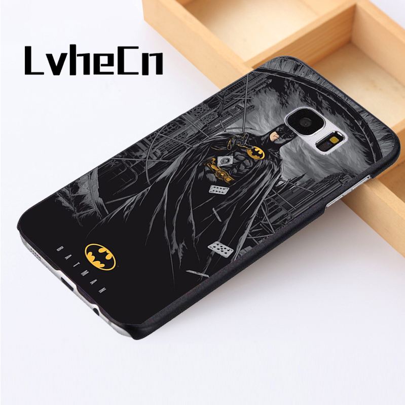 LvheCn phone case cover For Samsung Galaxy S3 S4 S5 mini S6 S7 S8 edge plus Note2 3 4 5 7 8 Batman Amazing Dark Night Joker